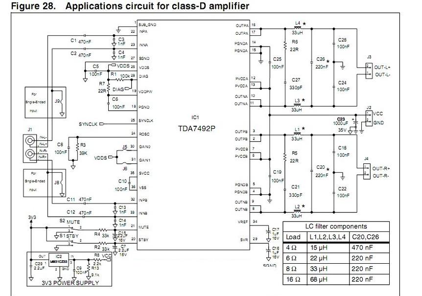 2x50w tda7492 class d power amplifier